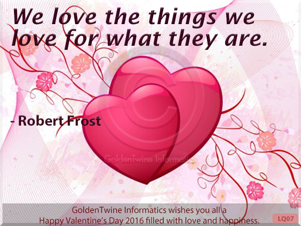 Picture Love Quote - Robert Frost