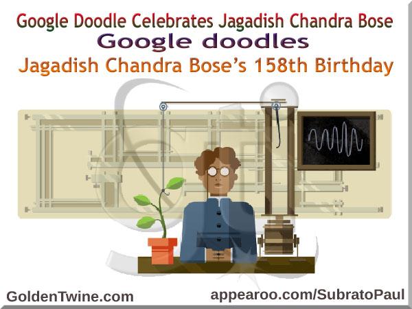 Google Doodle - Jagadish Chandra Bose
