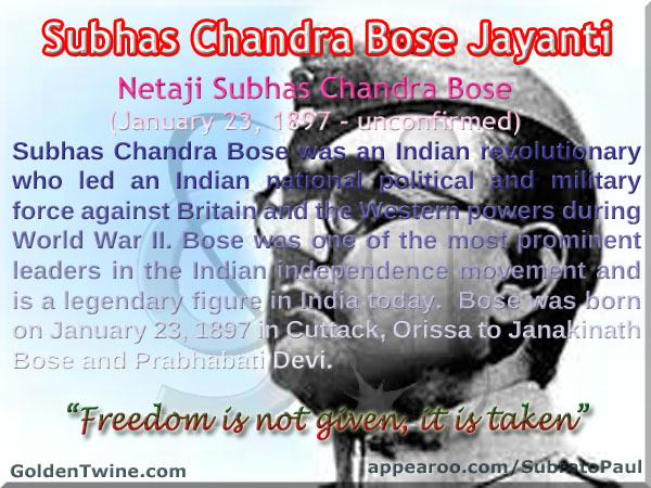 120th Birth Anniversary of Netaji Subhas Chandra Bose