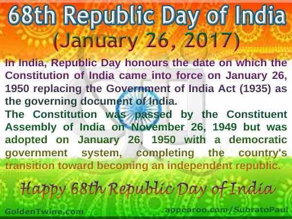 68th Republic Day of India