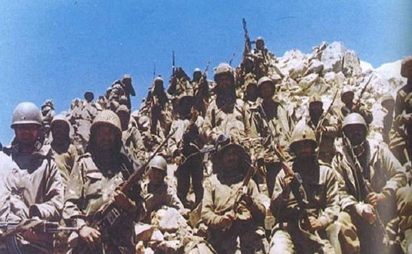 Indian soldiers in Batalik, JK during the Kargil war
