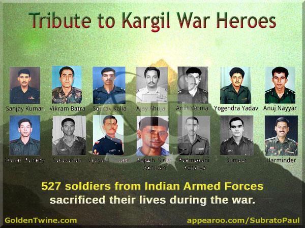 Tribute to Kargil War Heroes