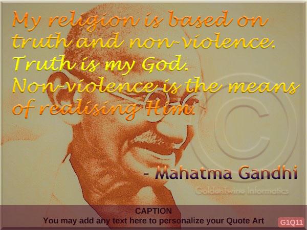 Mahatma Gandhi Quote G1Q11