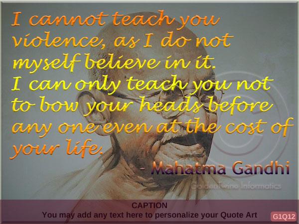 Mahatma Gandhi Quote G1Q12