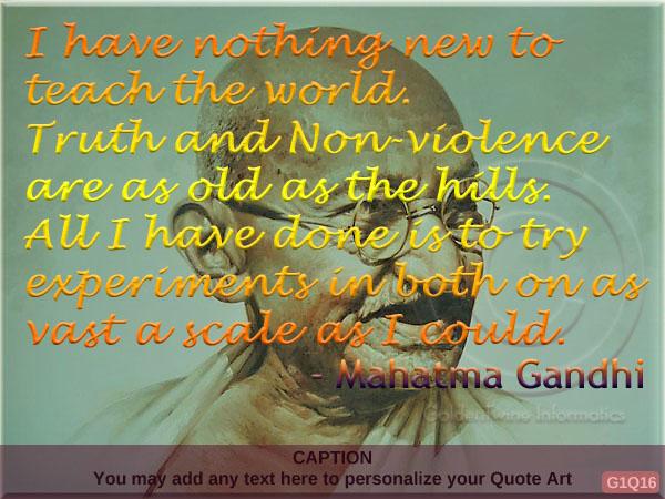 Mahatma Gandhi Quote G1Q16
