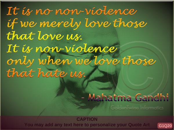 Mahatma Gandhi Quote G1Q20