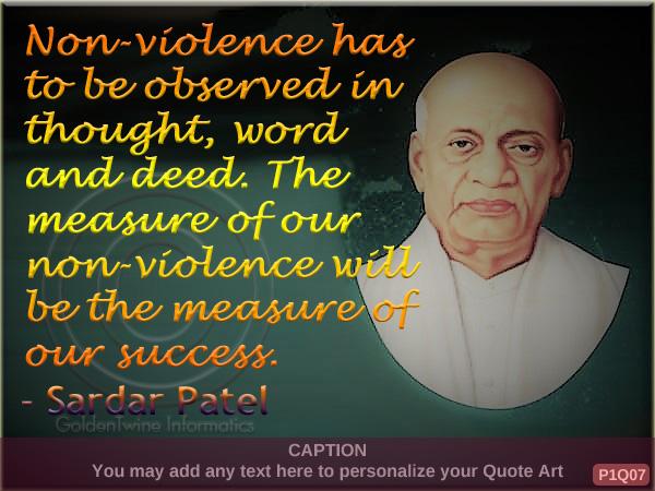 Sardar Patel Quote P1Q07
