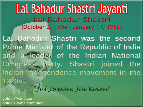 Birth Anniversary of Lal Bahadur Shastri