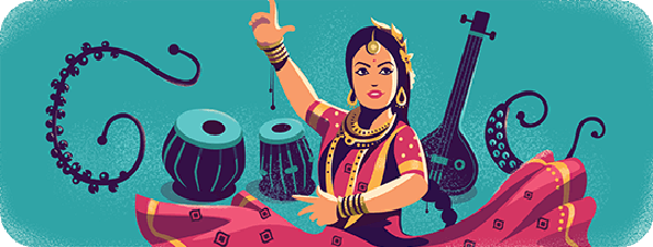 Sitara Devi's 97th Birthday Google Doodle