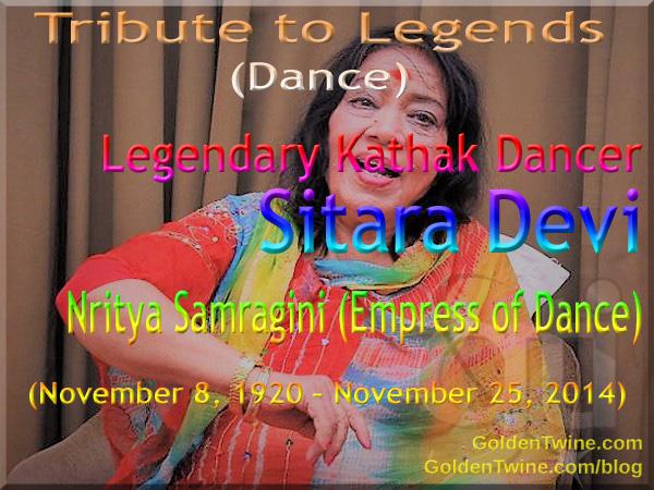 Tribute to Legends (Dance) - Kathak Dancer Sitara Devi