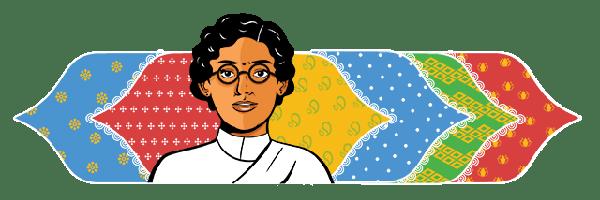 Anasuya Sarabhai's 132nd Birthday Google Doodle