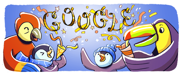 New Year's Eve 2017 Google Doodle - Image 1