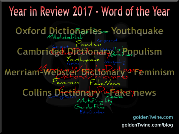 Year in Review 2017 - Word of the Year