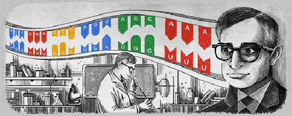 Har Gobind Khorana's 96th Birthday Google Doodle