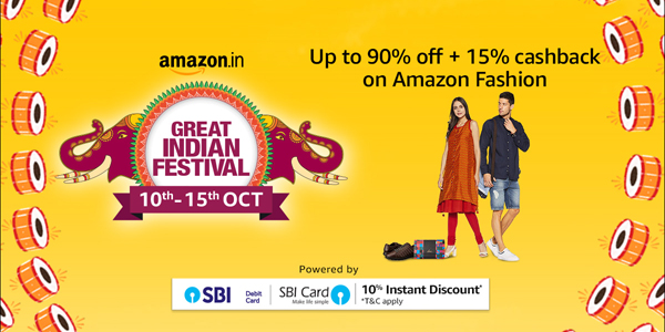 Amazon Great Indian Festival 10 to 15 October 2018 - Fashion