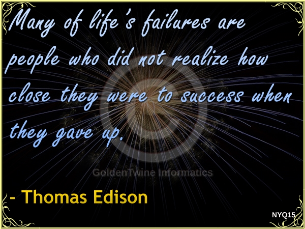New Year Quote by Thomas Edison - NYQ15