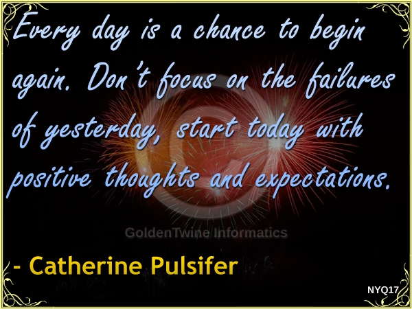New Year Quote by Catherine Pulsifer - NYQ17