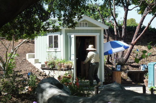 New volunteer shed for Native Garden
