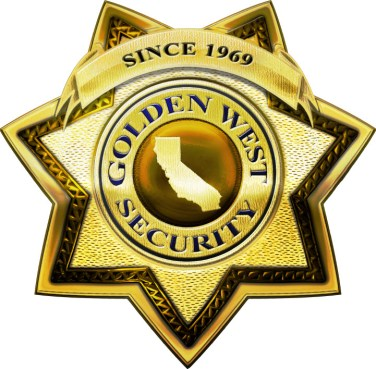 golden west security logo patrol, alarm response, sentry, onsite patrol, security guards