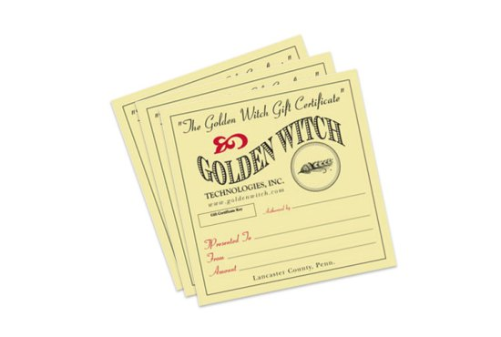 Golden Witch Gift Certificates