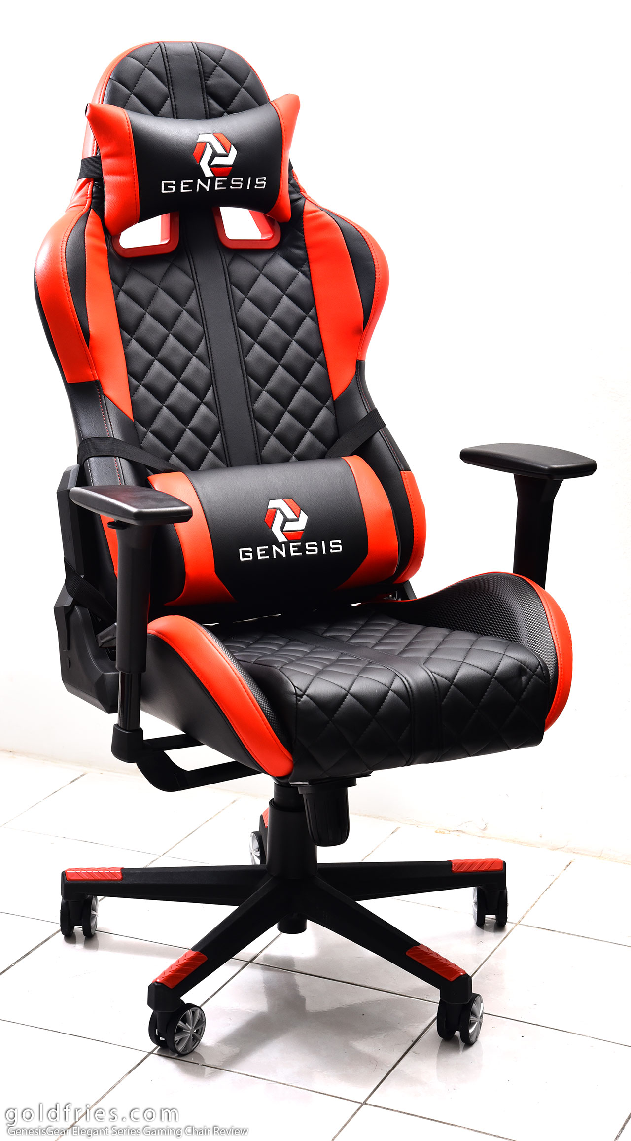 gaming chair review how much does a massage cost genesisgear elegant series goldfries