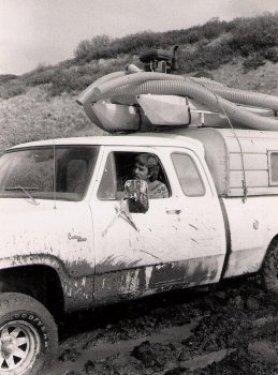 Driving through mud