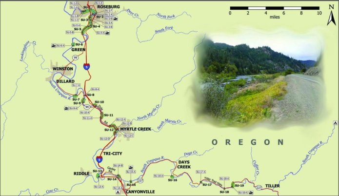 Umpqua River Map