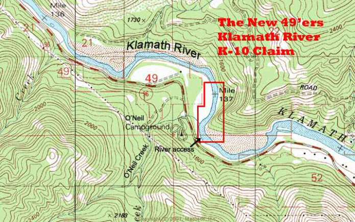 K-10 Topographical Map