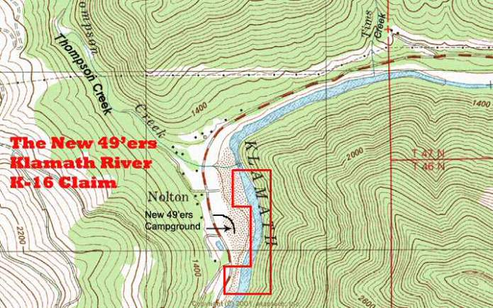 K-16 Topographical Map
