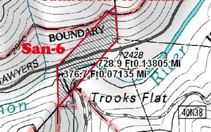 SAN-6 Topographical Map
