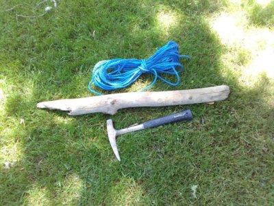Rope & wood