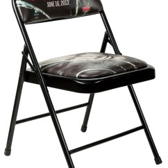 Steel Chair In Wrestling Metal Vintage Chairs Lot Detail Wwe Payback Multi Signed Psa Dna