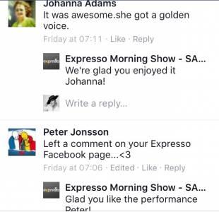 #ThisIsMyFire Johanna & Peter #ExpressoShow