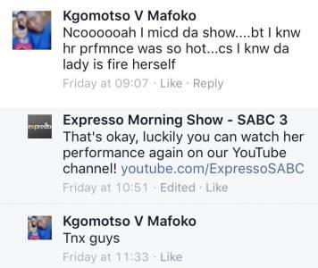 #ThisIsMyFire Kgomotso #ExpressoShow