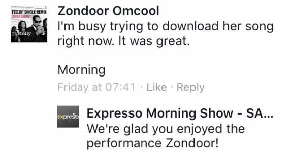 #ThisIsMyFire Zondoor #ExpressoShow