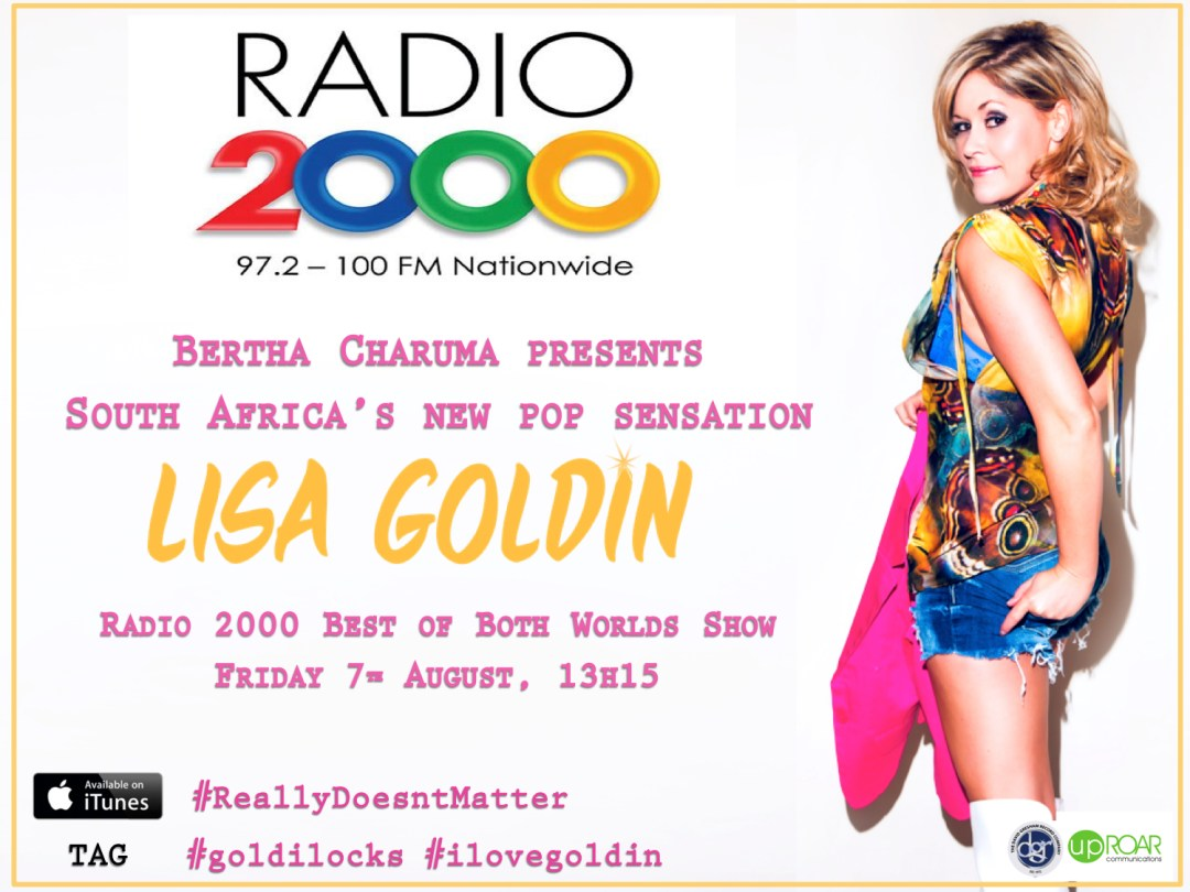 Lisa Goldin with Bertha Charuma on Radio 2000 Interview 7 August