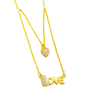 Love Necklace with Crystal Heart, Love Necklace with Crystal Heart Product Image