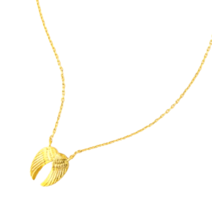 Gold Angel Wings Necklace, Gold Angel Wings Necklace Product Image