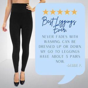 High Waisted Black Leggings, Image of High Waisted Black Leggings 5 Star Review