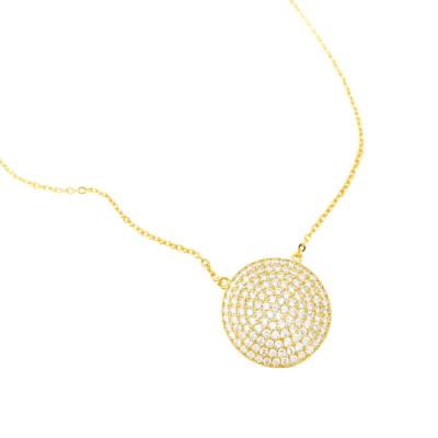 Diamond Medallion Necklace, Diamond Medallion Necklace Product Image
