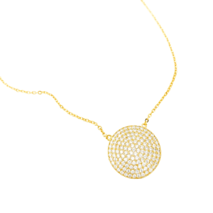 Diamond Medallion Necklace, Diamond Medallion Necklace Product Image