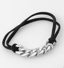 Silver Hair Tie Bracelet Large