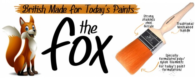 Modern Paints Need Modern Brushes – Now Available In Our Store : The Fox Painting & Decorating Brushes!