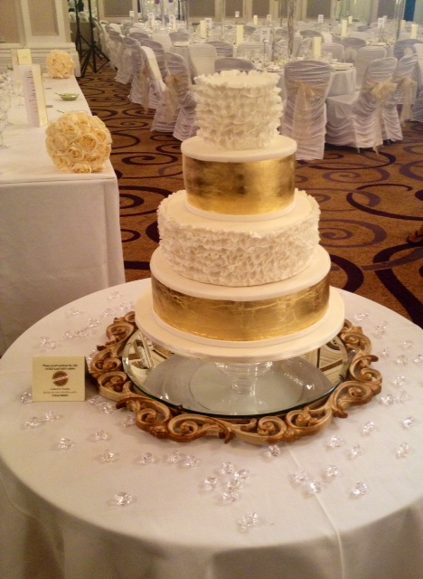 A Gorgeous, Gilded Wedding Cake by 'Caked by Sophie'