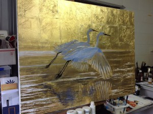 Gilded & Painted Artwork