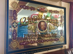 Traditional Sign Lettering and Glass Gilding on the Back of Glass by Malcolm Murphy