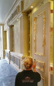 Gilded Details in High-End Period Interior by the Team at HVART Ltd