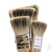 flat badger hair brush - thin