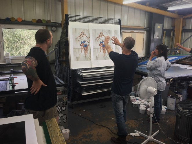 James Bullough in the studio