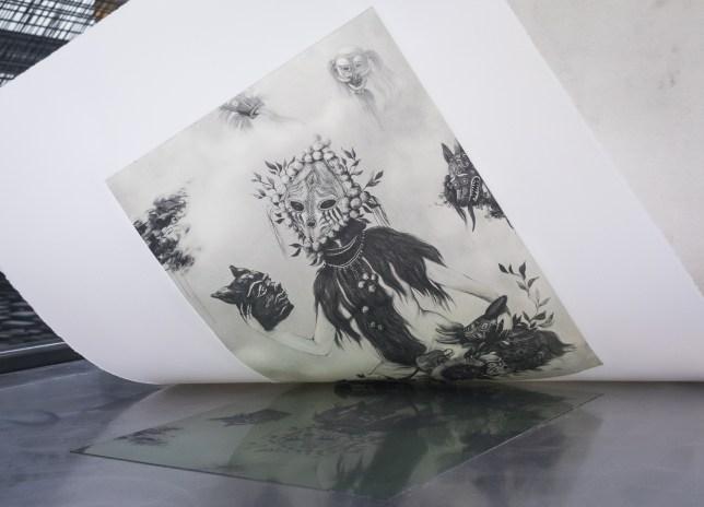 Miss Van - 'La Symphonie des Songes' - Chine-collé etching